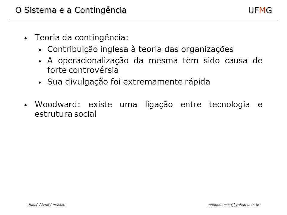 Teoria da contingência: