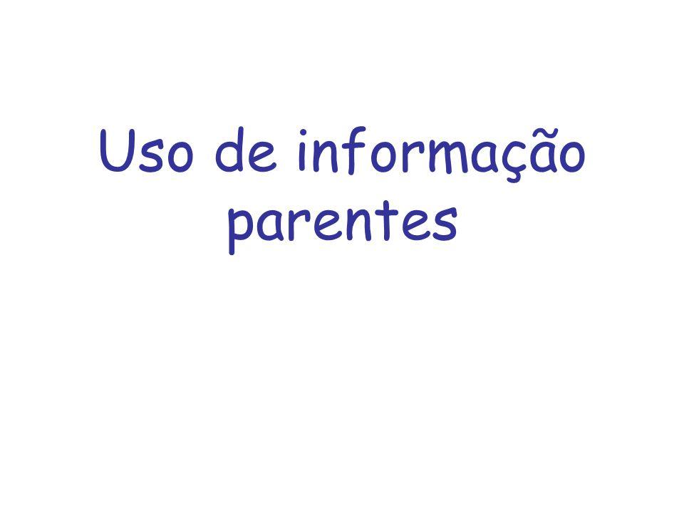 Uso de informação parentes