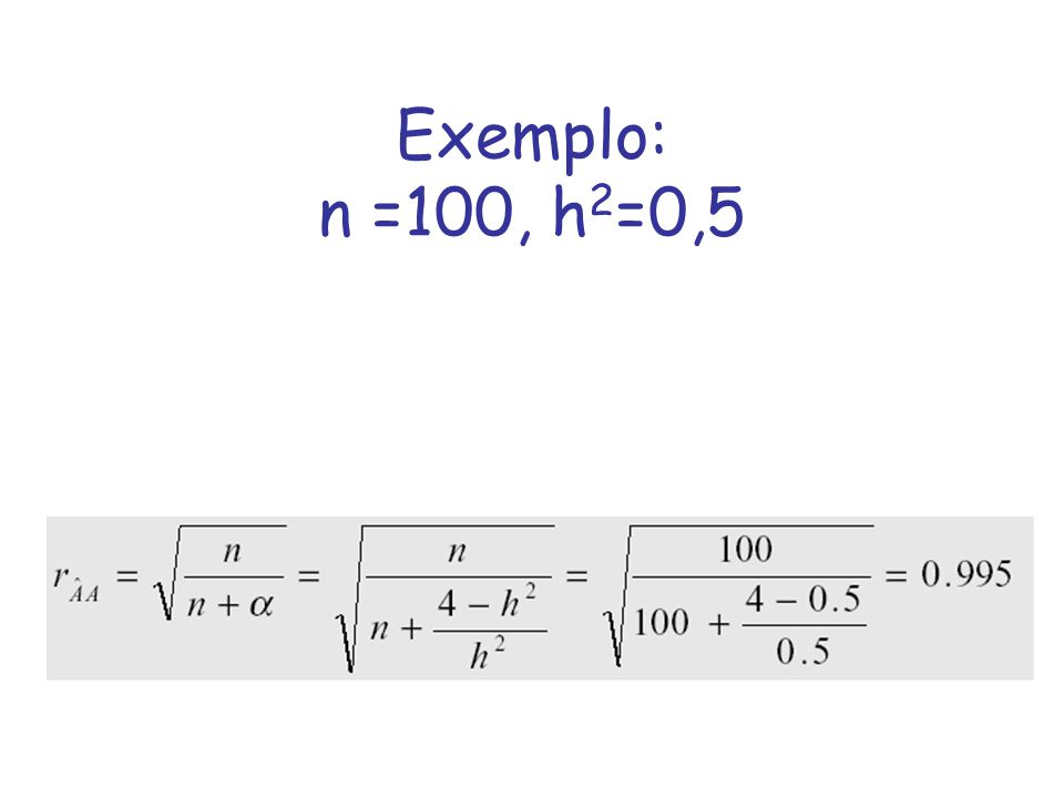 Exemplo: n =100, h2=0,5