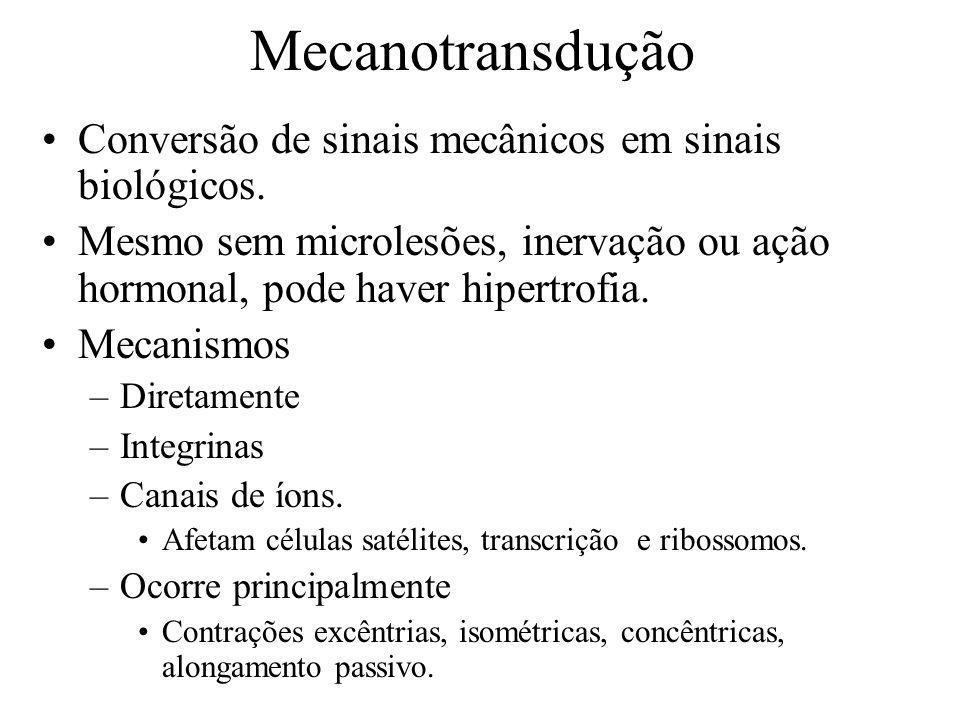Mecanotransdução Conversão de sinais mecânicos em sinais biológicos.