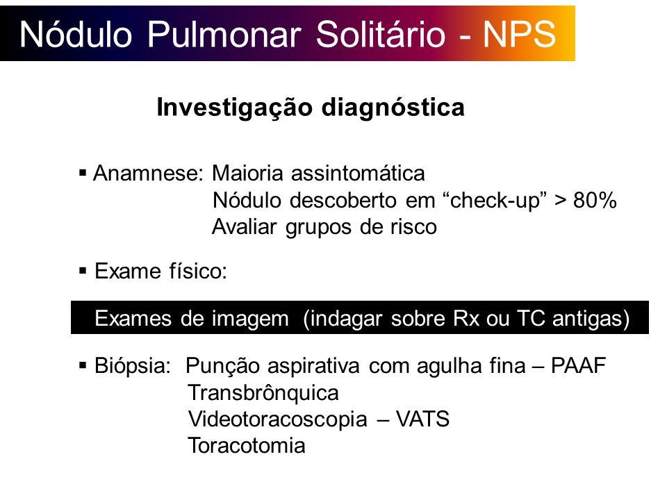 Nódulo Pulmonar Solitário - NPS