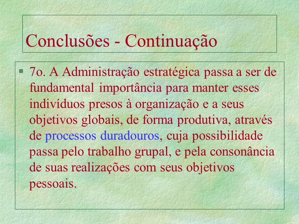 Conclusões - Continuação