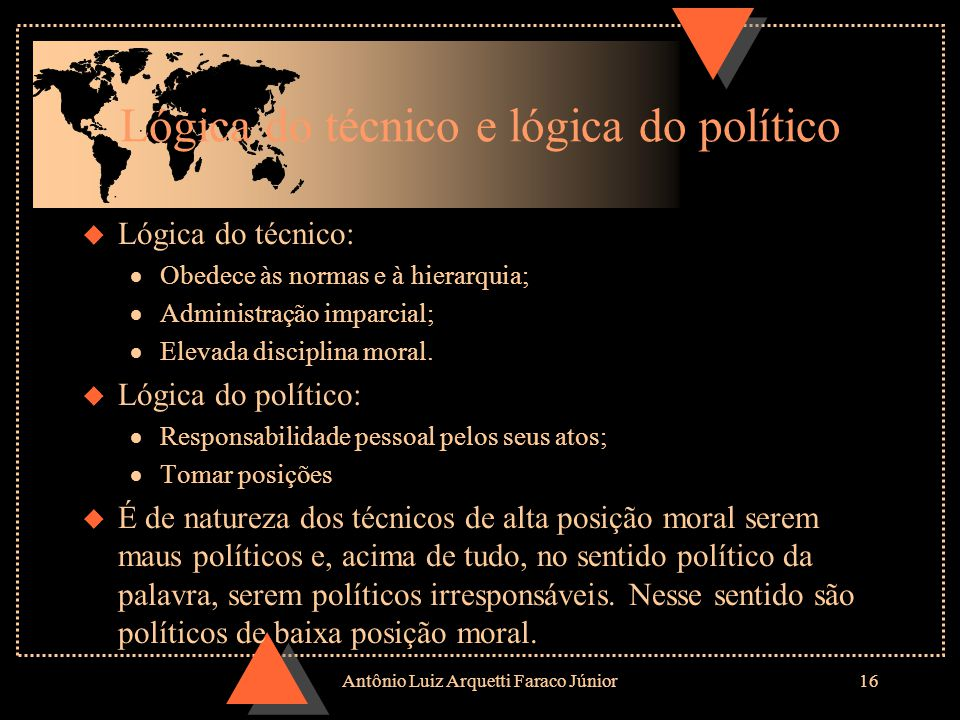Lógica do técnico e lógica do político