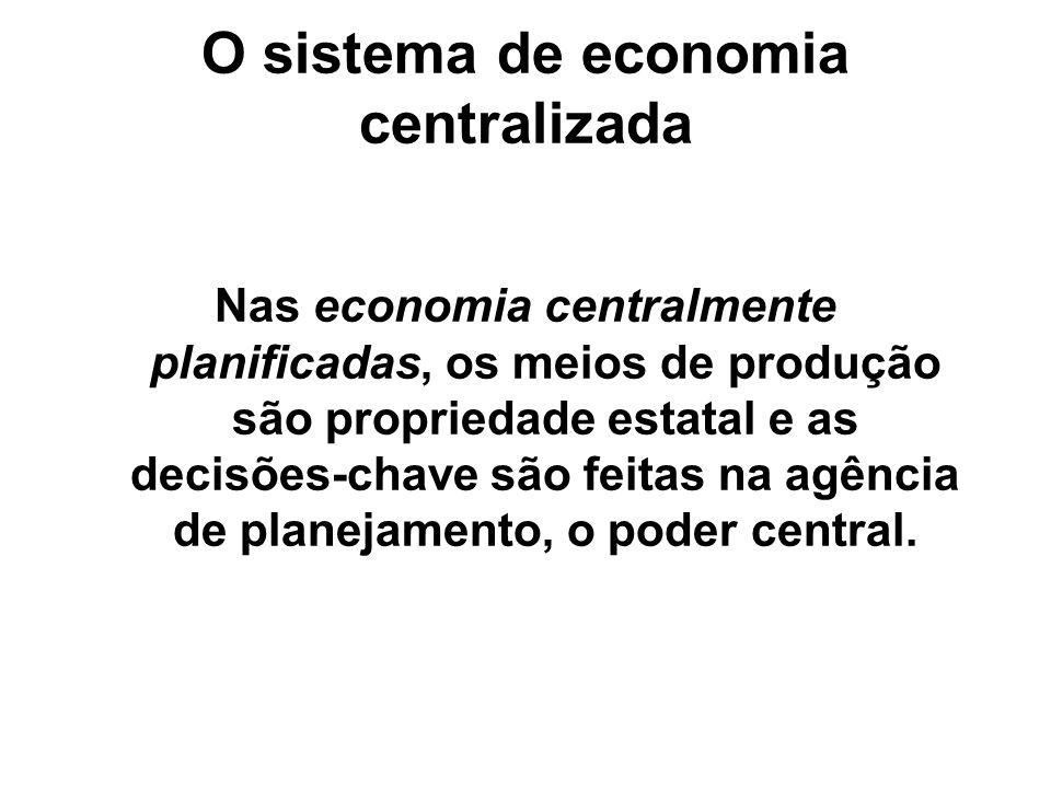 O sistema de economia centralizada
