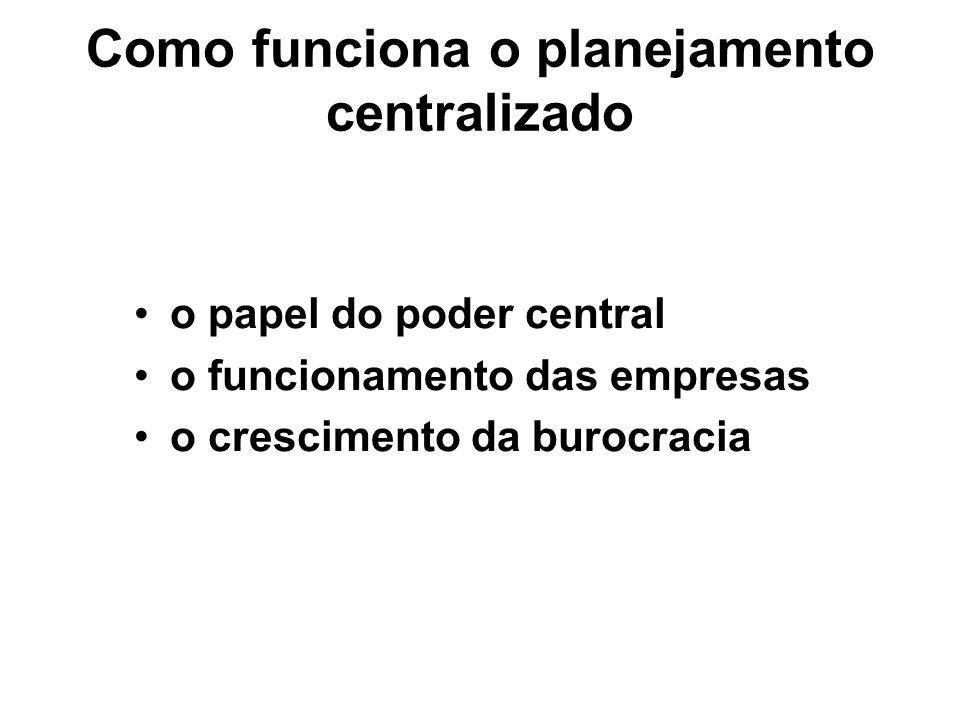 Como funciona o planejamento centralizado