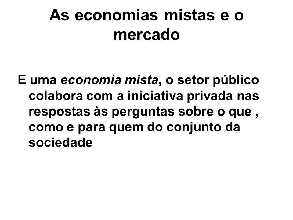 As economias mistas e o mercado