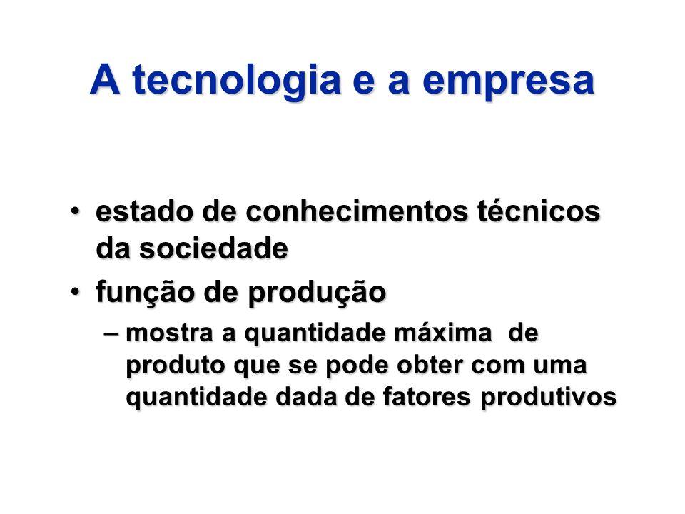 A tecnologia e a empresa