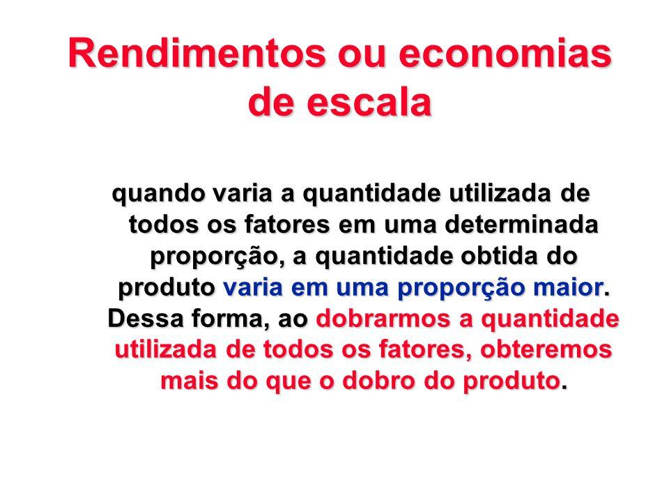 Rendimentos ou economias de escala