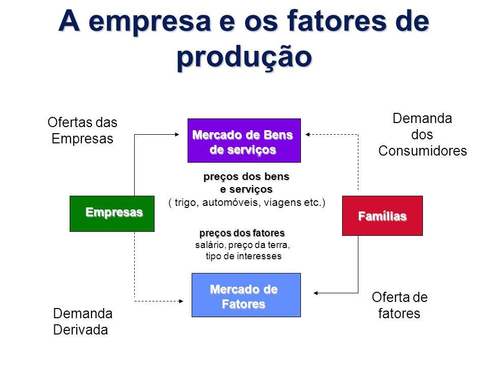 A empresa e os fatores de produção