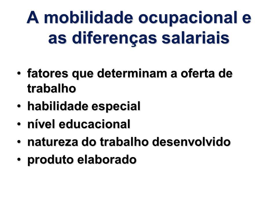 A mobilidade ocupacional e as diferenças salariais
