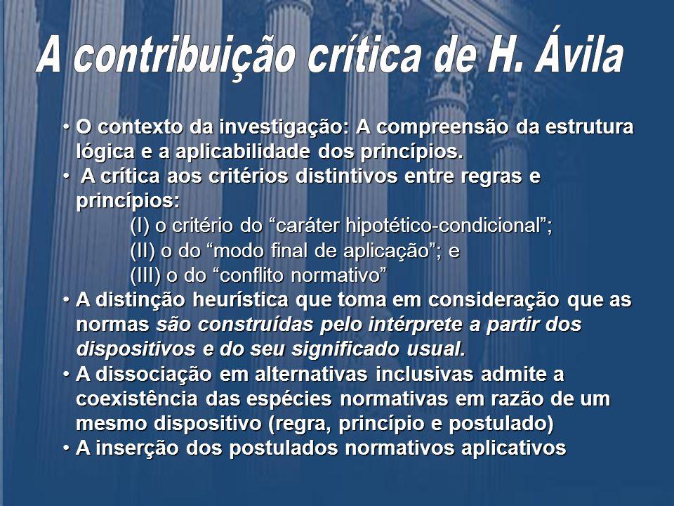 A contribuição crítica de H. Ávila