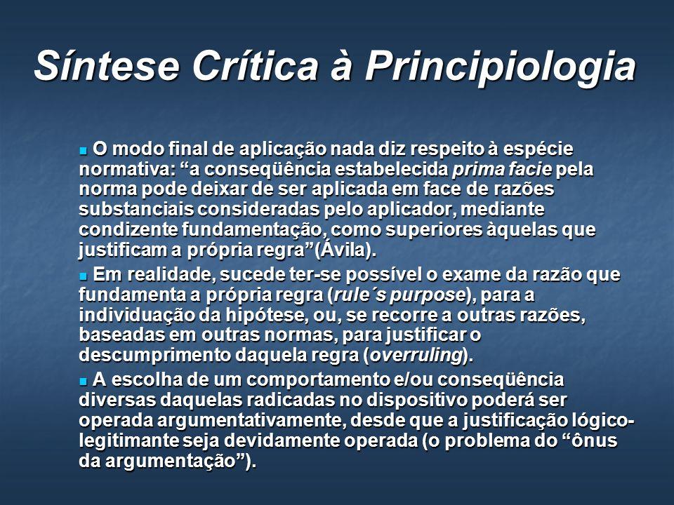 Síntese Crítica à Principiologia