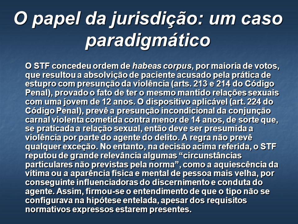 O papel da jurisdição: um caso paradigmático