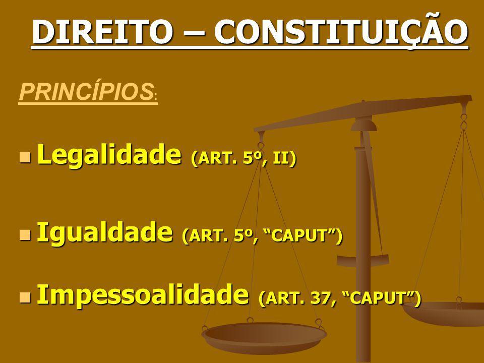 DIREITO – CONSTITUIÇÃO