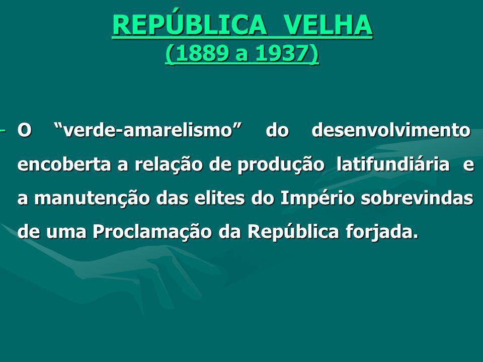 REPÚBLICA VELHA (1889 a 1937)