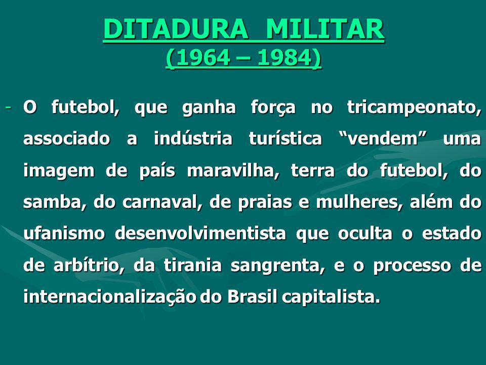 DITADURA MILITAR (1964 – 1984)
