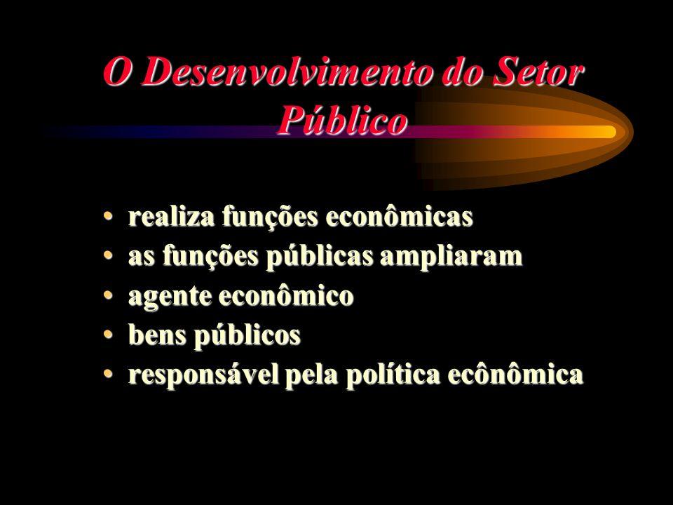 O Desenvolvimento do Setor Público