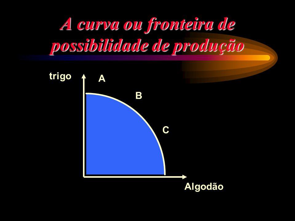 A curva ou fronteira de possibilidade de produção