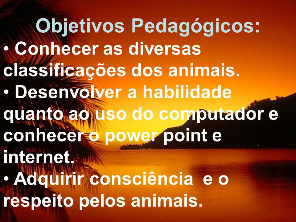 Objetivos Pedagógicos: