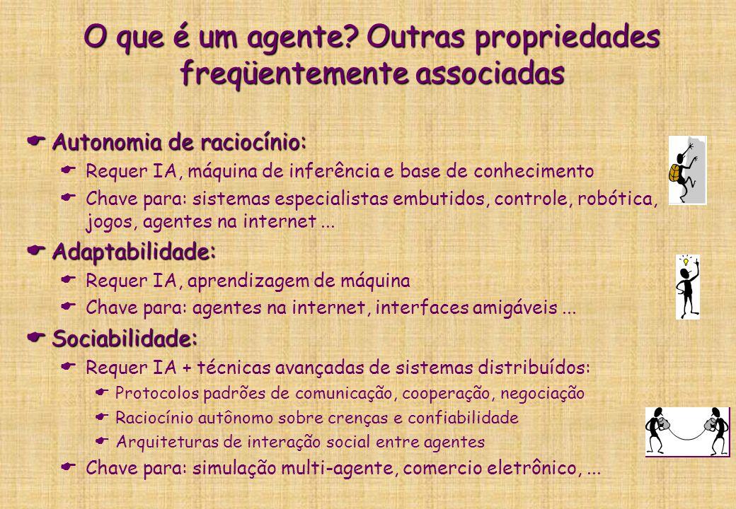 O que é um agente Outras propriedades freqüentemente associadas