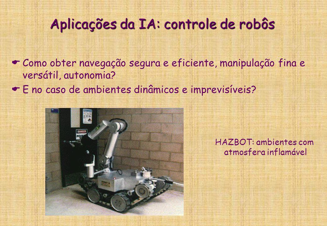 Aplicações da IA: controle de robôs