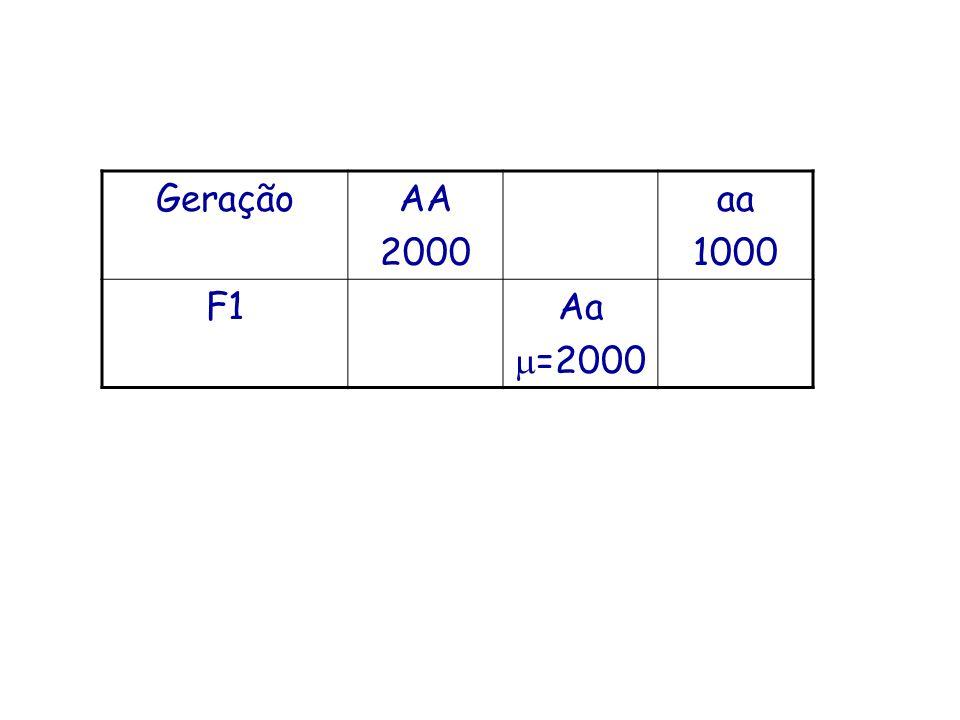 Geração AA 2000 aa 1000 F1 Aa =2000