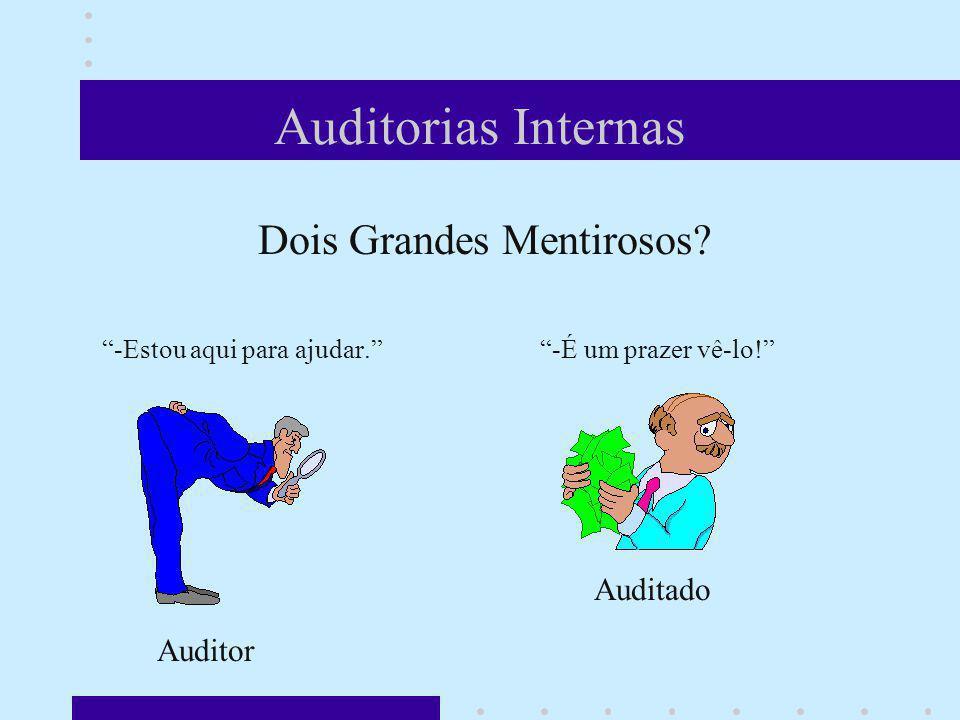 Auditorias Internas Auditado Auditor Dois Grandes Mentirosos