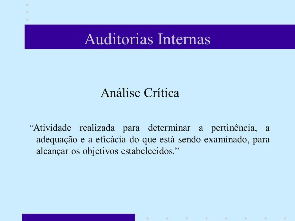 Auditorias Internas Análise Crítica