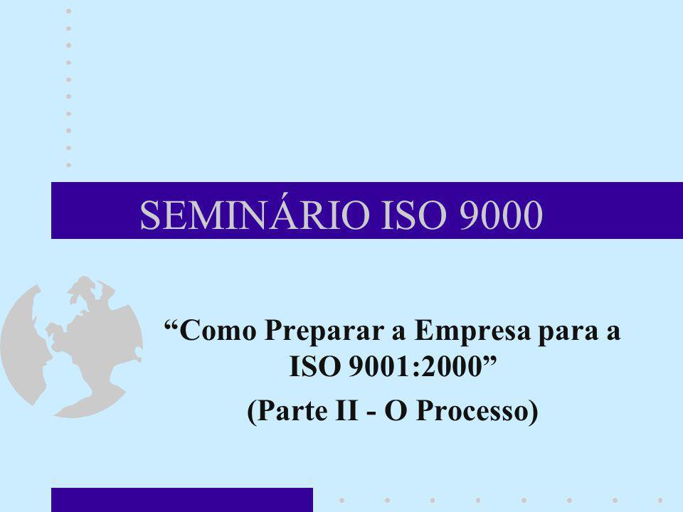 Como Preparar a Empresa para a ISO 9001:2000 (Parte II - O Processo)