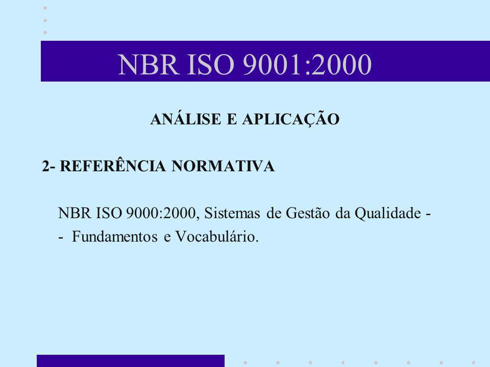 NBR ISO 9001:2000 ANÁLISE E APLICAÇÃO 2- REFERÊNCIA NORMATIVA
