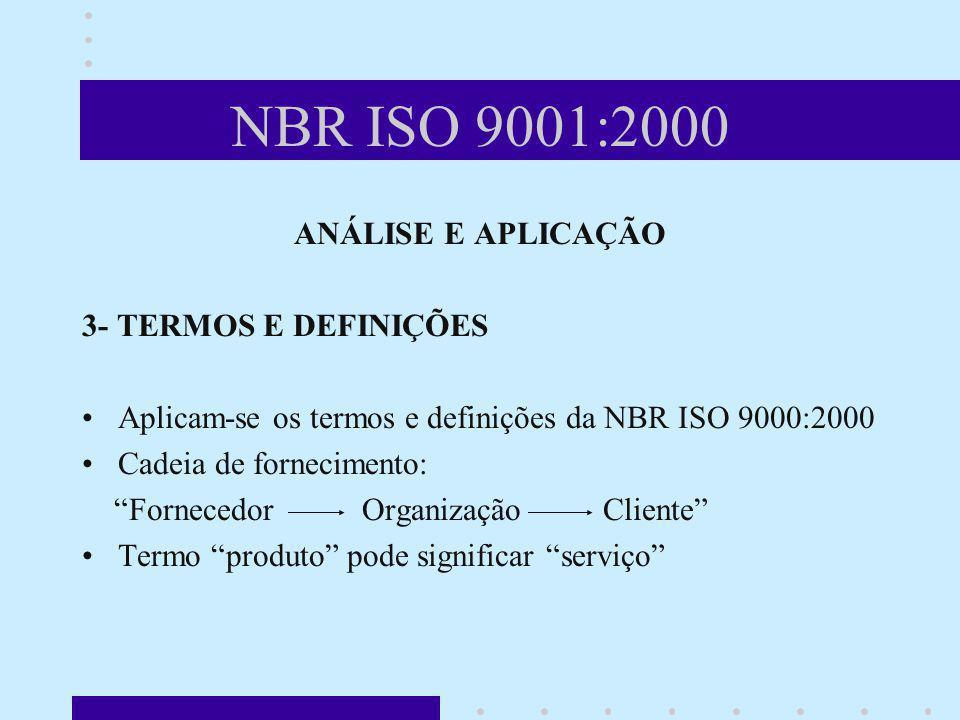 NBR ISO 9001:2000 ANÁLISE E APLICAÇÃO 3- TERMOS E DEFINIÇÕES