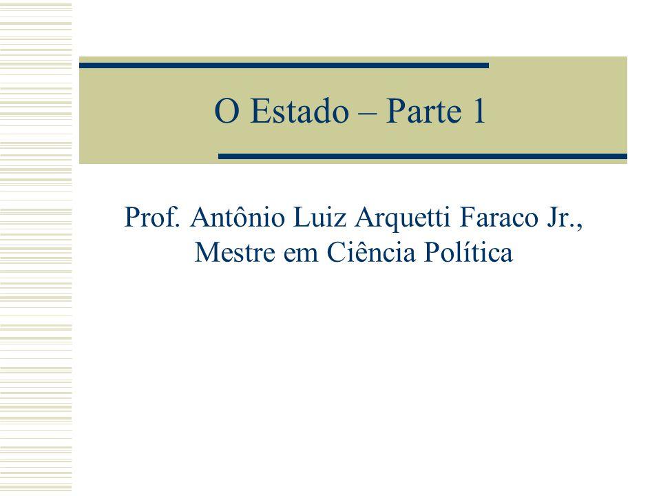 Prof. Antônio Luiz Arquetti Faraco Jr., Mestre em Ciência Política