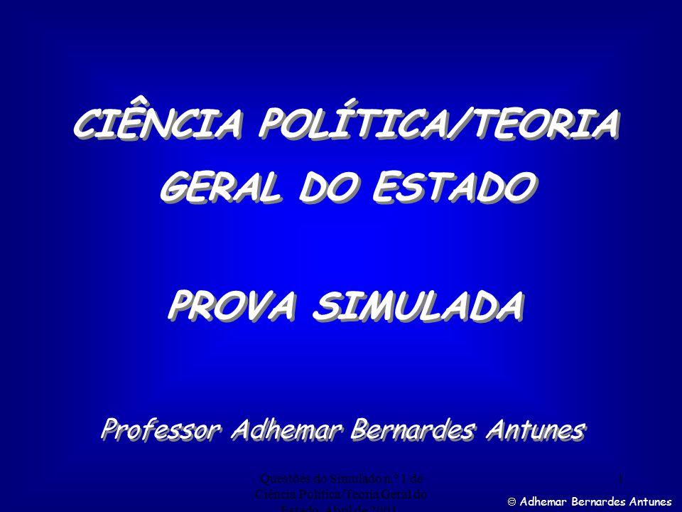 CIÊNCIA POLÍTICA/TEORIA