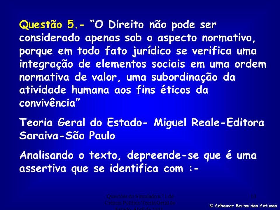Teoria Geral do Estado- Miguel Reale-Editora Saraiva-São Paulo