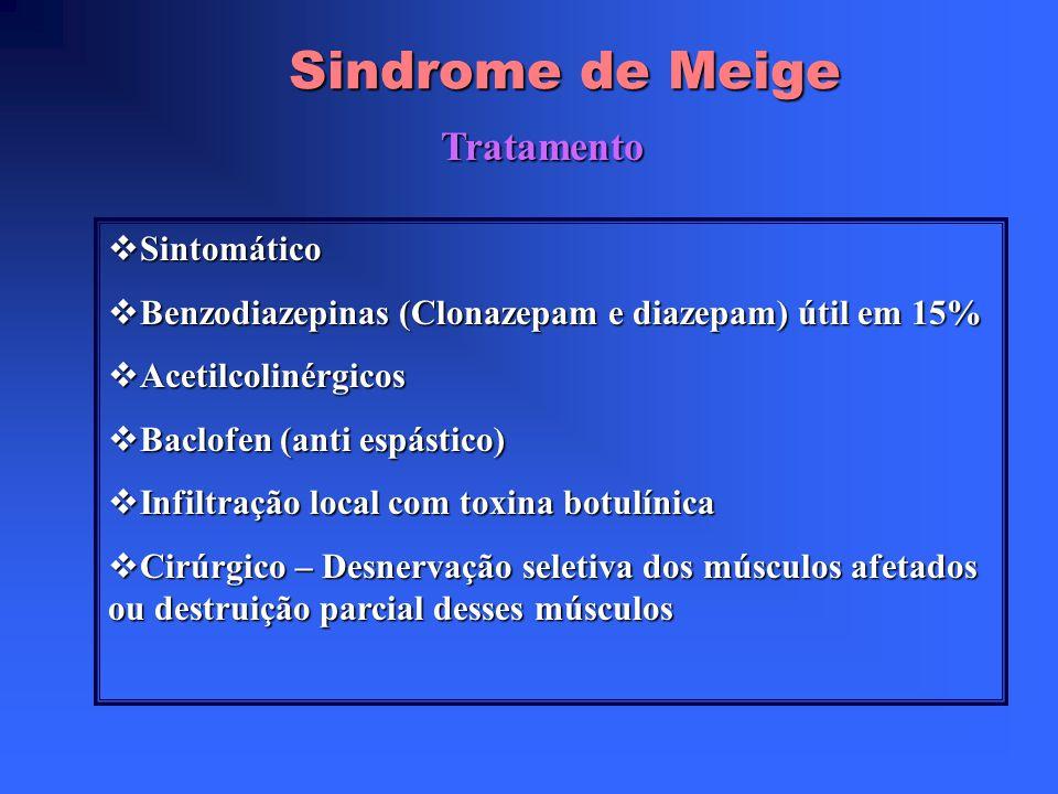 Sindrome de Meige Tratamento Sintomático
