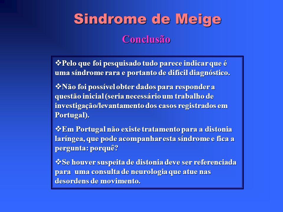 Sindrome de Meige Conclusão