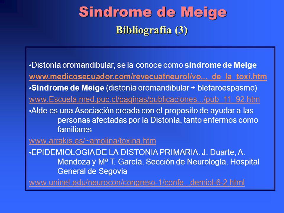 Sindrome de Meige Bibliografia (3)