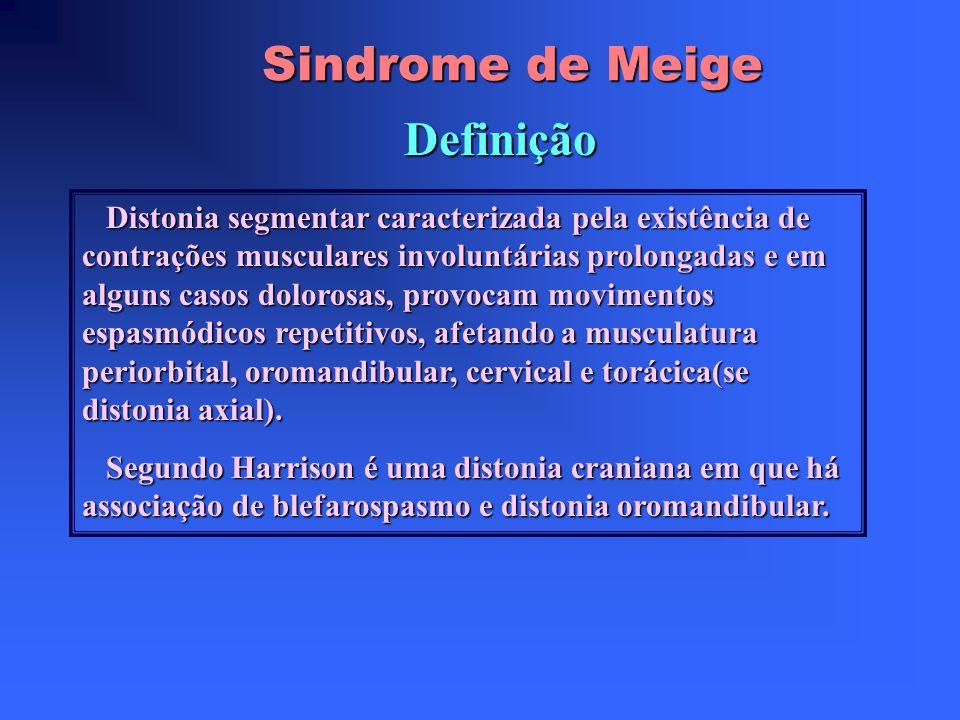 Sindrome de Meige Definição