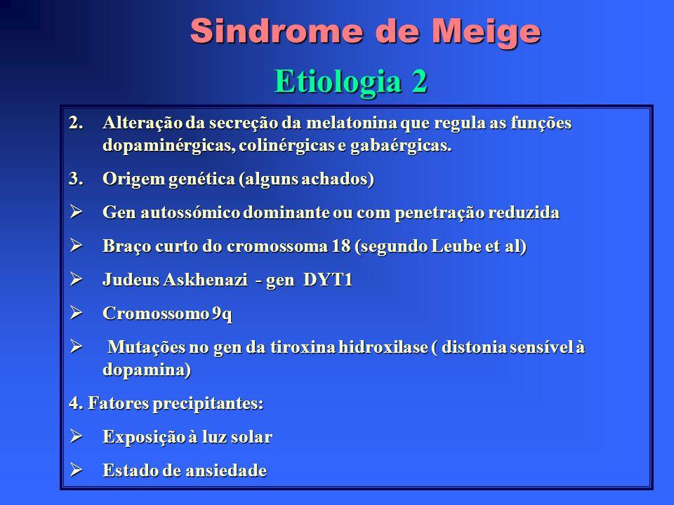 Sindrome de Meige Etiologia 2