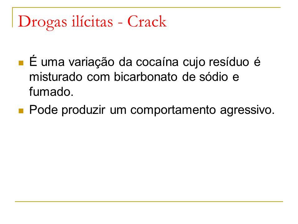 Drogas ilícitas - Crack