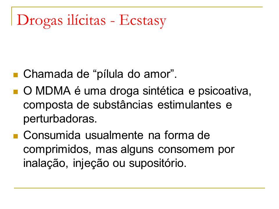 Drogas ilícitas - Ecstasy