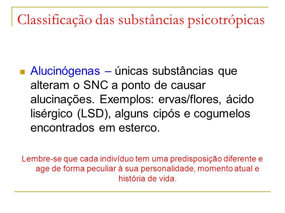 Classificação das substâncias psicotrópicas