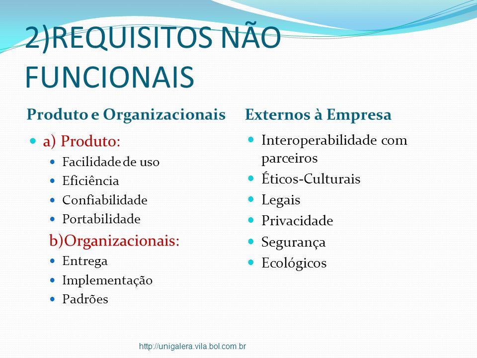 2)REQUISITOS NÃO FUNCIONAIS