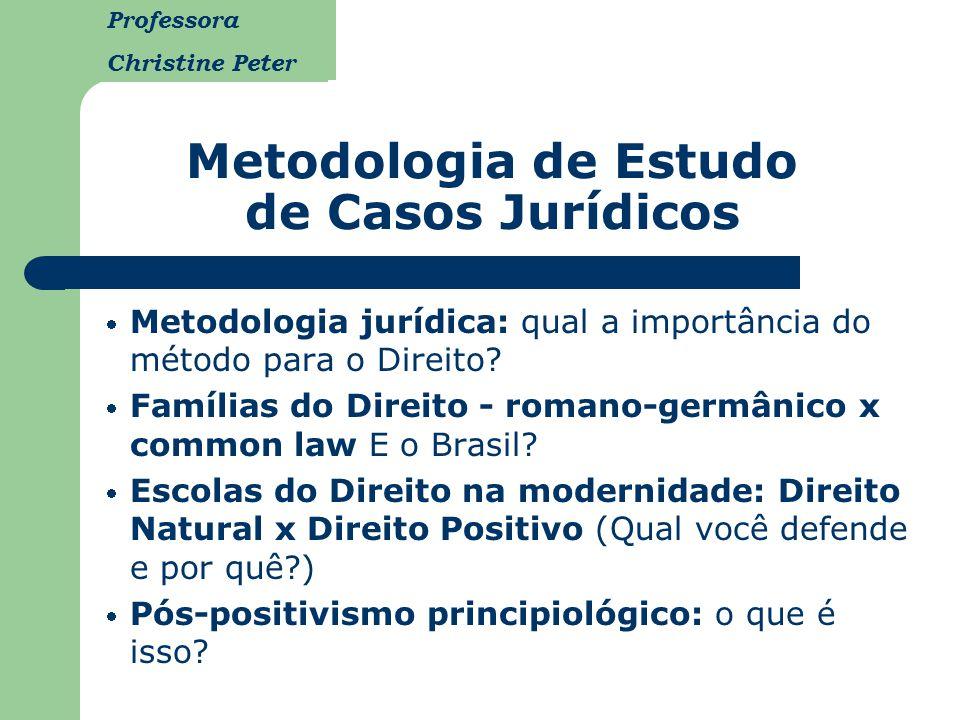 Metodologia de Estudo de Casos Jurídicos