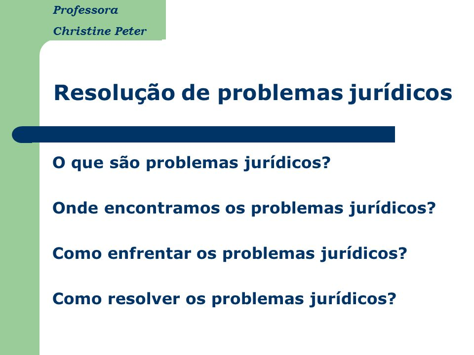 Resolução de problemas jurídicos