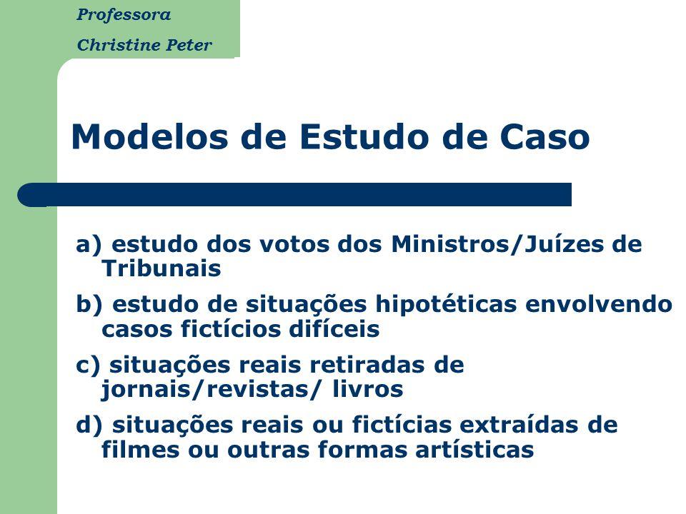 Modelos de Estudo de Caso