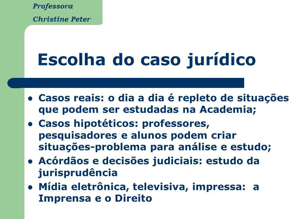 Escolha do caso jurídico