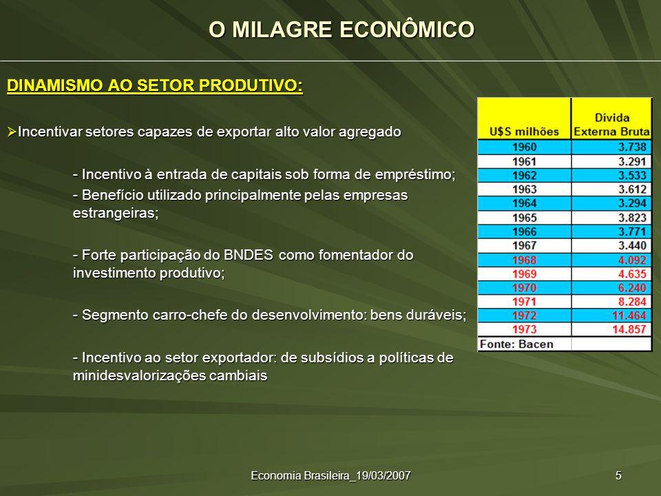 Economia Brasileira_19/03/2007