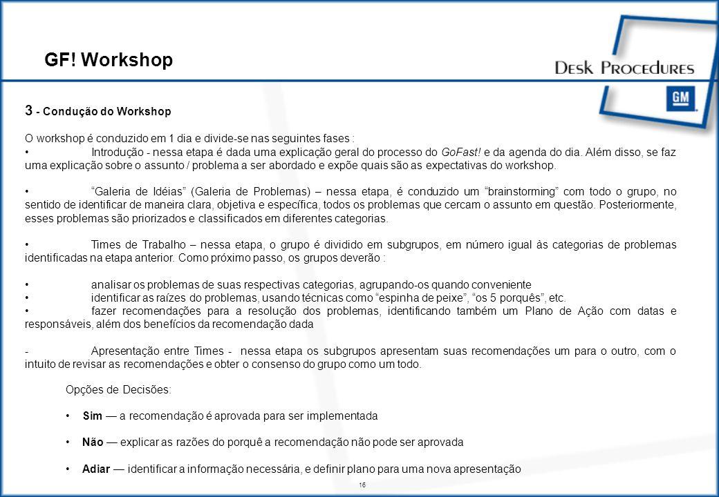 GF! Workshop 4 - Implementação das Recomendações e Monitoramento