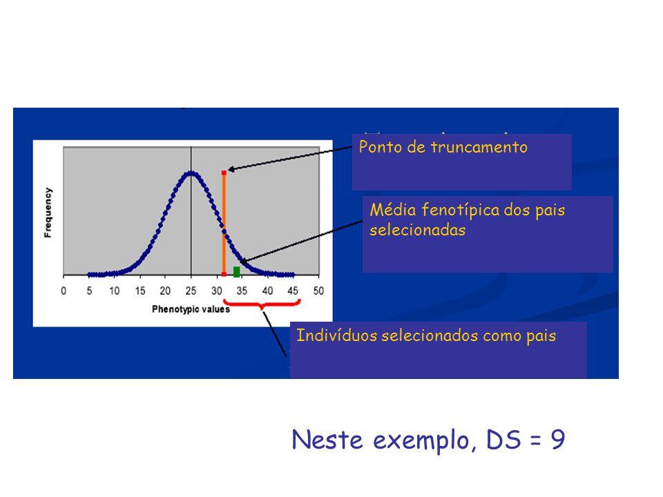 Neste exemplo, DS = 9 Ponto de truncamento